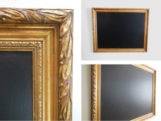 Gold framed chalkboard - $45