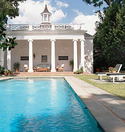 Colonial-Column-Pool-House